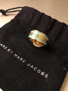 Marc by Marc Jacobs Teal Enaemel Stripe Ring