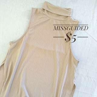 Missguided Nude Tunic Top