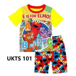 E is for ElmoShort Sleeve Tshirt/Shorts Set for ( 2 to 7  yrs old)