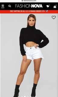 Fashion Nova denim shorts M