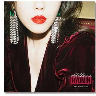 T-ara : HYOMIN - Mini Album Vol.3 [Allure]