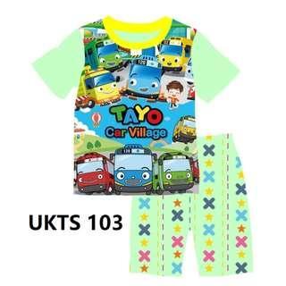 Tayo Car Village Short Sleeve Tshirt/Shorts Set for ( 2 to 7  yrs old)