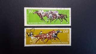 🚚 Hungary vintage stamps 1961 Horse Sports
