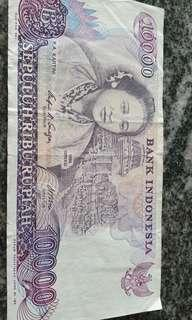 Indonesia old note $10000 1985