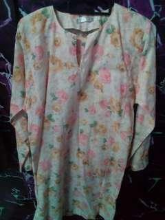 Baju Kurung Floral cotton