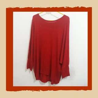 Kaos Merah Big Size