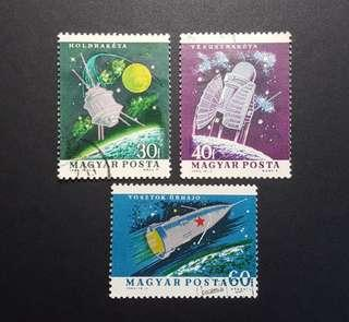 🚚 Hungary vintage stamps 1964 Space Exploration