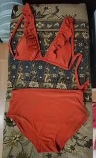 High waist 2 piece swimsuit