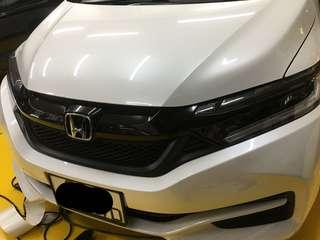 Honda shuttle grille wrapping glossy black