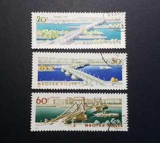 🚚 Hungary vintage stamps 1964 Opening of the Reconstructed Elizabeth Bridge