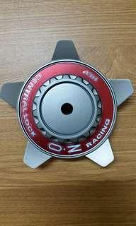 OZ Racing Center Lock Cap M668 Grigio Corsa Red Ring 膠鈴蓋1個