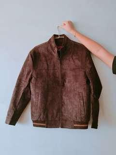 🚚 古著 vintage 復古 深咖啡色 麂皮大衣外套 全新
