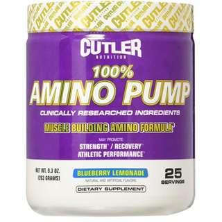 Cutler Nutrition 100% Amino Pump Muscle Building Formula, Blueberry Lemonade, 9.3 Ounce