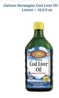 Cod liver oil Norwegian natural