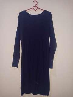 Dress rajut navy