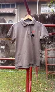 Artwork gray polo shirt
