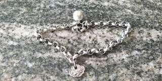 Vintage Paranakan baby leg silver bracelet