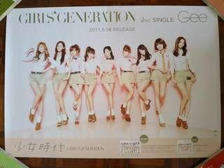 Snsd Girl's Generation Official Album Poster