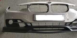BMW F30 OEM FRONT BUMPER WITH PP FRONT LIP