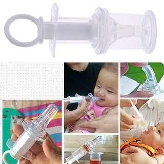 Baby needle feeder squeeze medicine dropper dispenser pacifier feeding utensil