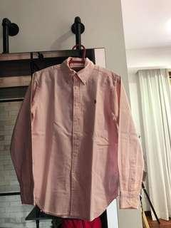 Ralph Lauren Signature Pink Stripped Long-Sleeved Shirt