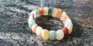 Multicoloured jades bracelet