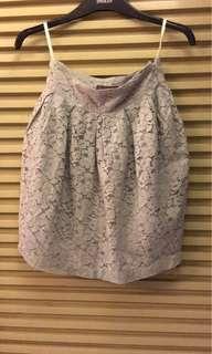 Plains & Prints gray floral skirt
