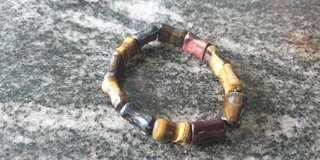 Tiger eye bracelet (bamboo shape)