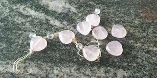 Rose quartz heart shape bracelet