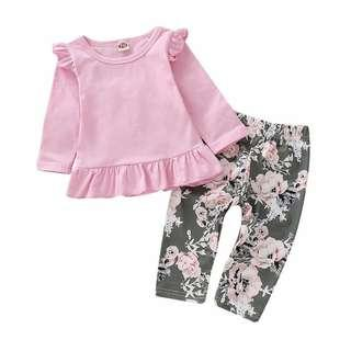 Girls Clothing Set long sleeve with pant