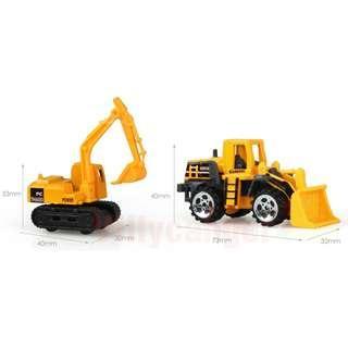 Mainan Mobil-Mobilan Truck Konstruksi Diecast Anak 6PCS Yellow