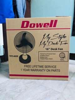 """Dowell 16"""" Desk Fan Brand New"""