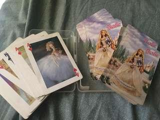 Vintage Barbie doll playing cards