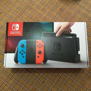 BNIB Nintendo Switch Neon Red Blue