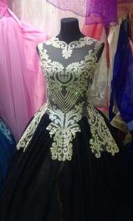 Black ball gown for rent
