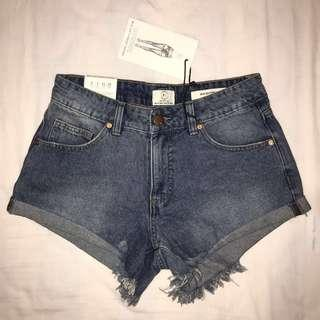 Cotton On Denim Mid Rise Shorts