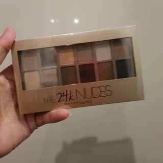 Jual Rugi / Eyeshadow Pallete Maybelline 24k Nudes Termurah