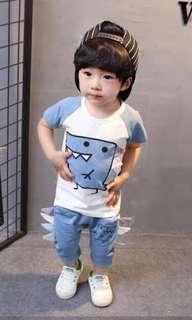 🌼INSTOCK🌼 BOY Baby Top Shorts Set