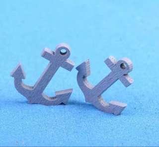 🚚 ☘️ Terrarium Figurines, Accessories, Miniature - Scrapbooking, Gardening, Home Decor, Mini Landscape, Photo Frame, Plants, Card Making, Beach, Seaside, Ocean Theme etc - Set of 2 Ship Anchor
