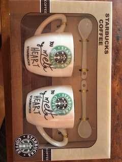 Starbucks' couple mugs