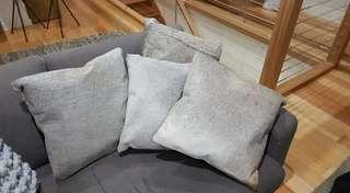 4 x Grey toned cow hyde cushions - stunninh