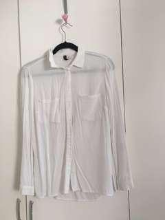H&M Basic White Button Up