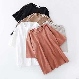 🚚 (preorder) color block short sleeved basic tee t-shirt - collection III