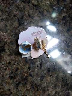 日本製Hilaris星球兔耳環 單隻款