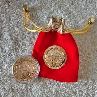 🚚 韓國瑜市長就職紀念幣+絨布袋