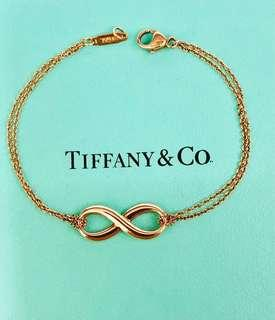 "🚚 Tiffany & Co. Rubedo Metal Infinity Bracelet - 6.00""(BE0075)"