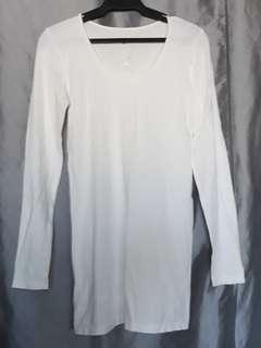 Grace and Lace Plain White Long Sleeve