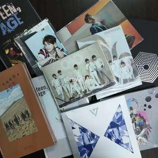 [Clearance] EXO, SHINEE, SEVENTEEN, INFINITE KPOP Albums