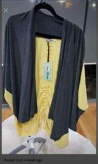 Grey and yellow cardi (free size 16 up) paid over $120