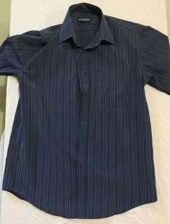 Striped Blue Polo